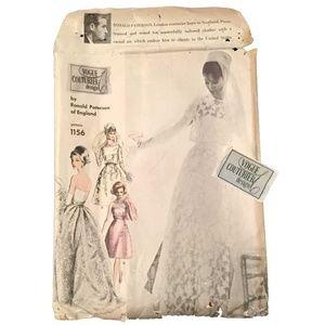 Vogue No. 1156 - Couturier Wedding Dress w/LABEL